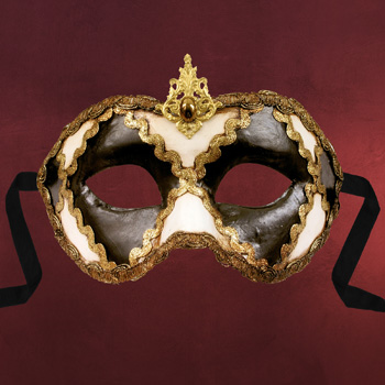 Venezianische Maske - Colombina scacchi