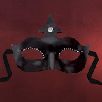 Venezianische Maske - Colombina Stella schwarz
