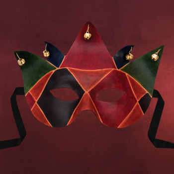 Venezianische Maske - Colombina Joker