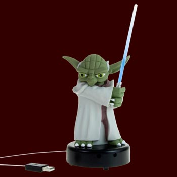 Star Wars - Yoda Figur mit Lichtschwert