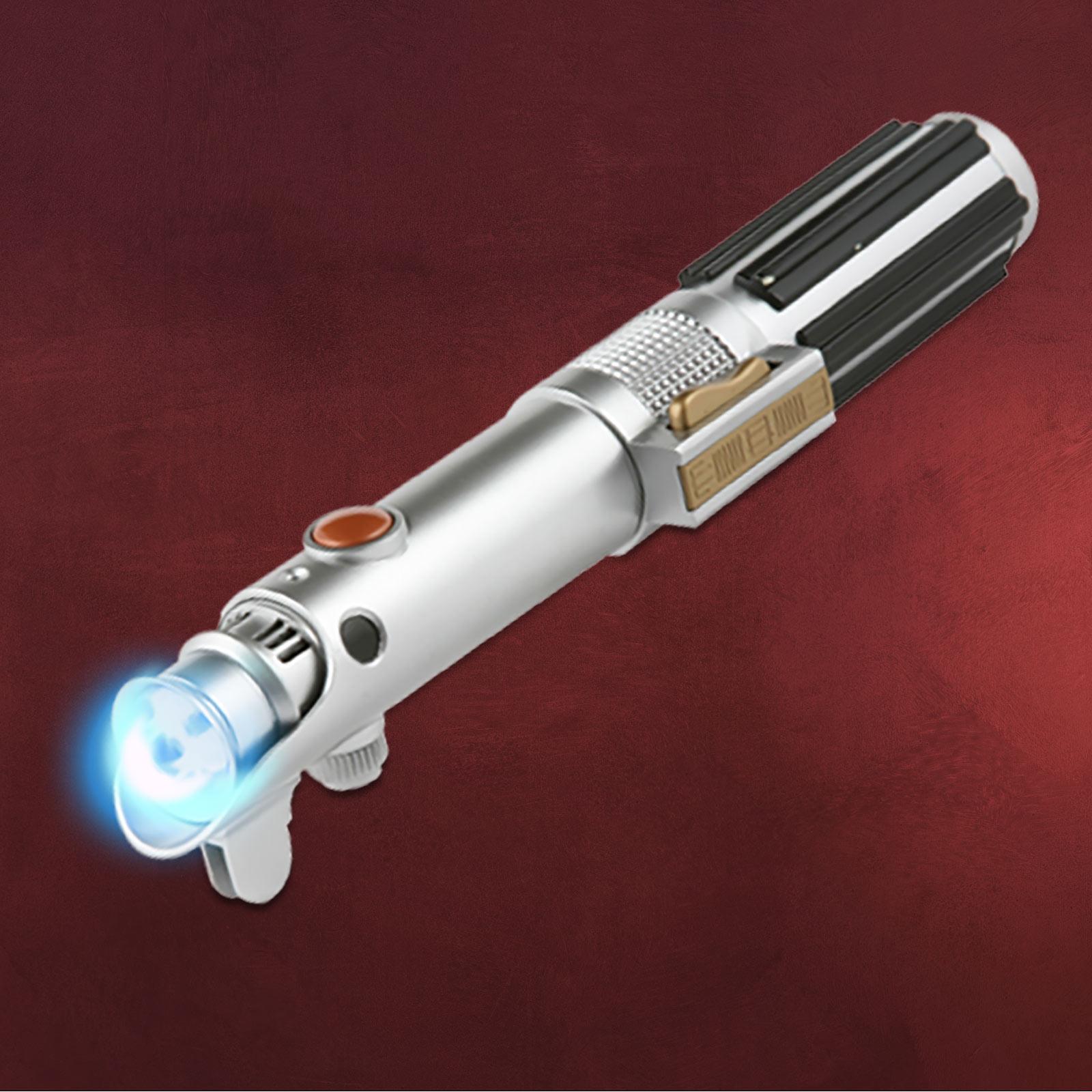 star wars lichtschwert taschenlampe mit sound anakin skywalker lichtstrahl blau. Black Bedroom Furniture Sets. Home Design Ideas