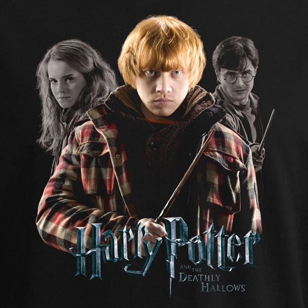 ron weasley harry potter 7 t shirt deathly hallow ebay. Black Bedroom Furniture Sets. Home Design Ideas