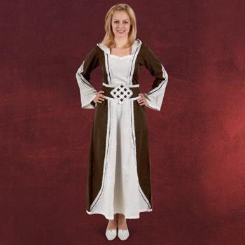 Cassandra Mittelalter Kleid natur-braun