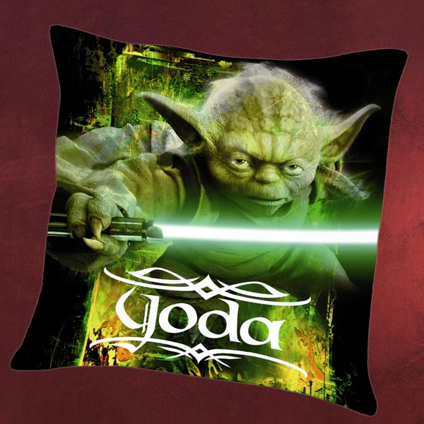 Star wars yoda kissen yedi meister deko 40x40cm ebay for Star wars deko