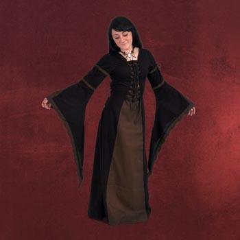 Leona - Mittelalterkleid schwarz-braun