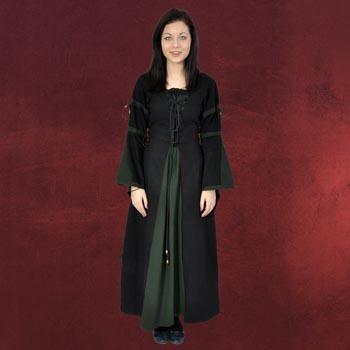 Elisa - Mittelalterkleid schwarz-grün