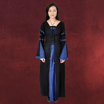 Leona - Mittelalterkleid schwarz-blau