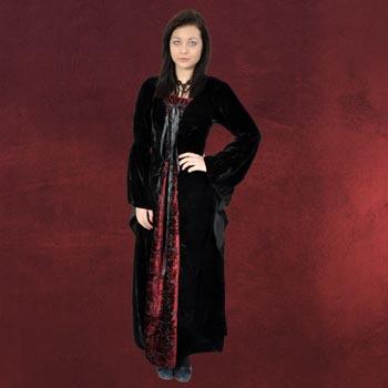 Bruna Samtkleid schwarz-rot