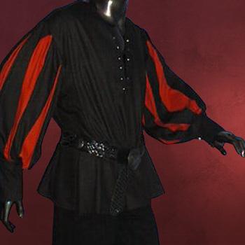 Landsknecht Hemd schwarz-rot