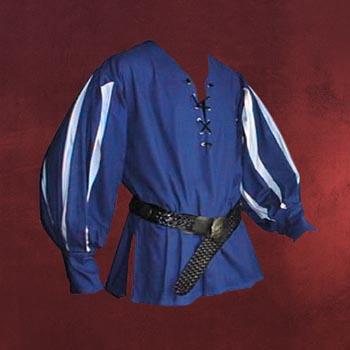 Landsknecht Hemd blau-weiß