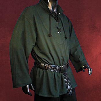 Mittelalterliches Hemd grün