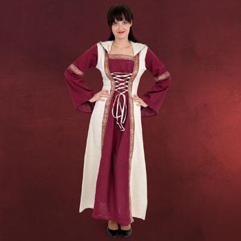 Saphiria Mittelalter Kleid bordeaux-natur