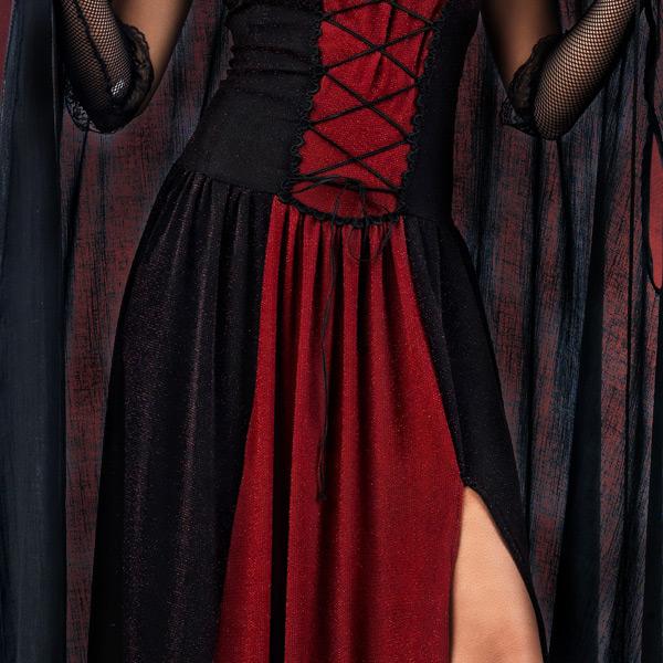 mittelalter gothic gewandung schwarzer umhang mit kapuze. Black Bedroom Furniture Sets. Home Design Ideas