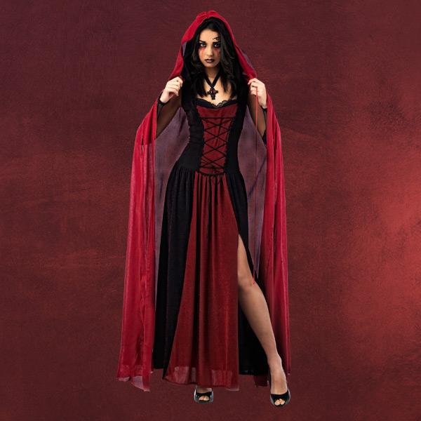rotk ppchen vampir kapuzenumhang roter mantel mit. Black Bedroom Furniture Sets. Home Design Ideas