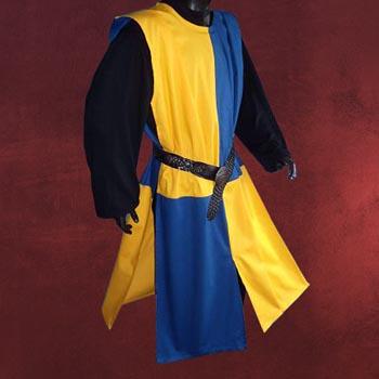 Waffenrock gelb-blau