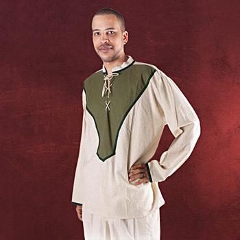 Balian Mittelalterhemd natur-olive