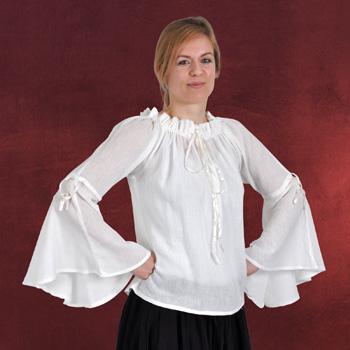 Cecilia Mittelalter Bluse natur