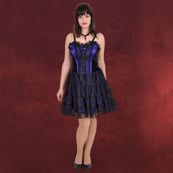 gothic mode corsage kleid m t ll rock schwarz lia ebay. Black Bedroom Furniture Sets. Home Design Ideas