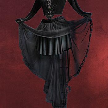 Chiffonrock schwarz