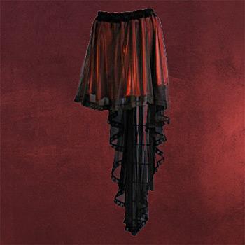 Chiffonrock schwarz-rot