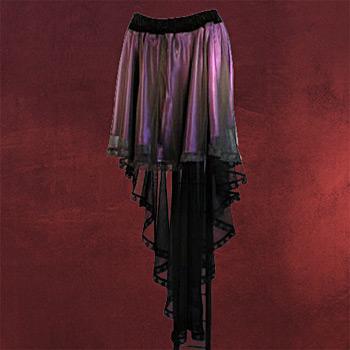 Chiffonrock schwarz-lila