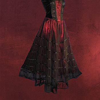 Tüllrock schwarz-rot