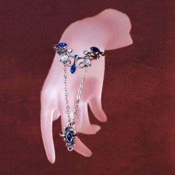 Handkette blau