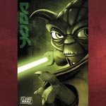 Star Wars - The Clone Wars - Yoda mit Schwert - Poster