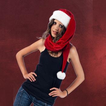 Weihnachtsmannmütze lang