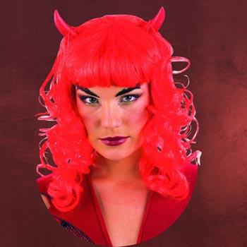 Teufelsweib Perücke rot