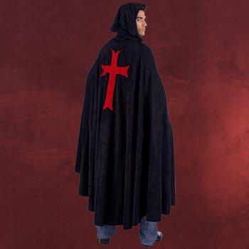 Umhang Tempelritter schwarz