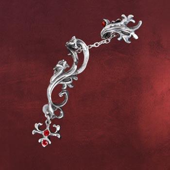 Steampunk Ohrring Chain Gear