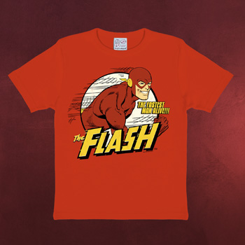 DC - Flash The Fastest Man alive rot - Kinder Shirt