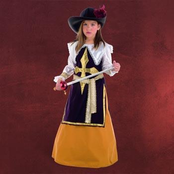 Musketierkleid mit Hut - Kinderkost�m