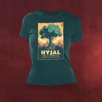 World of Warcraft Mt. Hyjal Girlie Shirt