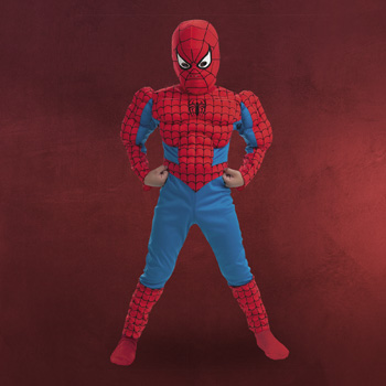 Spiderman mit Muskeln - Kinderkost�m