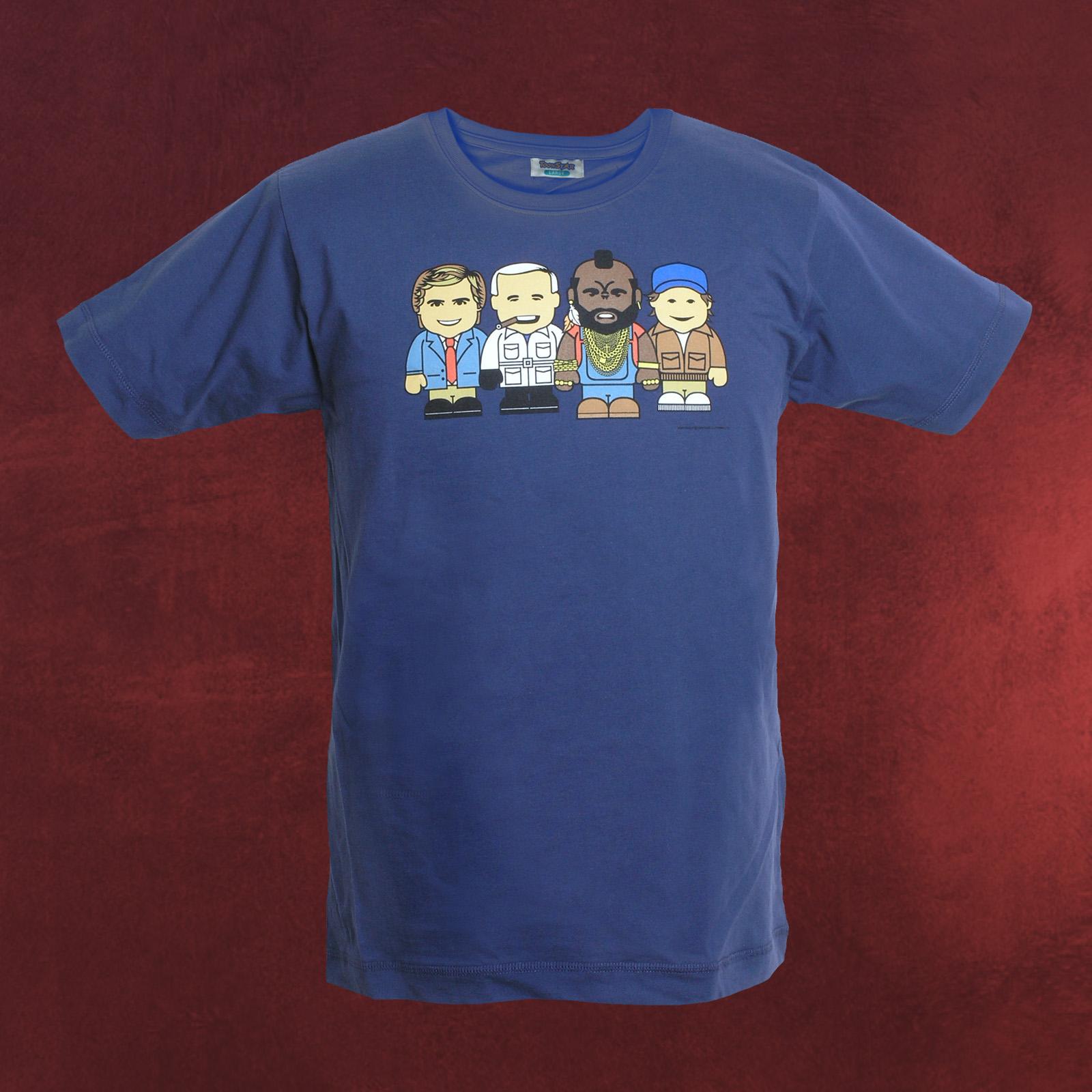 A team kult t shirt mit charakter comic print von hannibal for Team t shirt printing