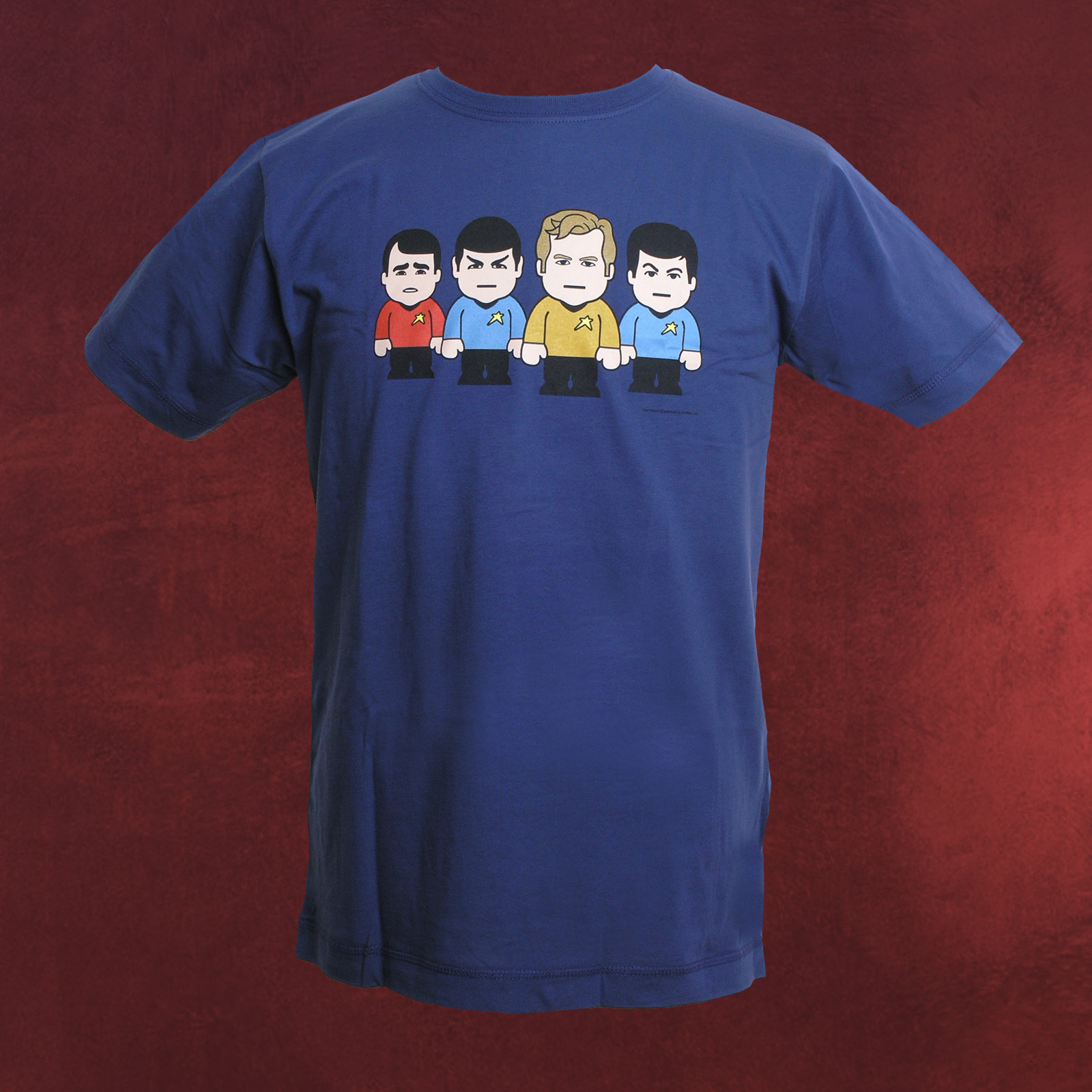 star trek toonstar marken t shirt f r scifi fans mit kirk spock scotty mccoy ebay. Black Bedroom Furniture Sets. Home Design Ideas