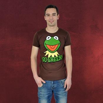 Muppets - Kermit Go Green T-Shirt braun