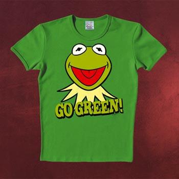 Muppets - Kermit Go Green T-Shirt gr�n Slim Fit