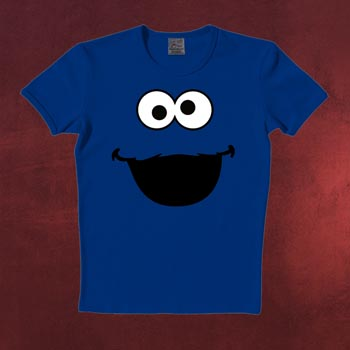 Sesamstraße - Faces Cookie Monster T-Shirt