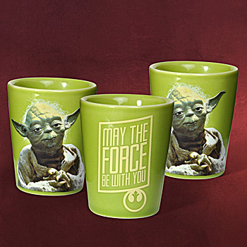 Star Wars Yoda Becherset 3-teilig
