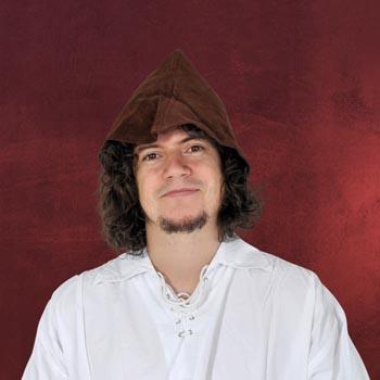Leder Hut Robin Hood Style - braun