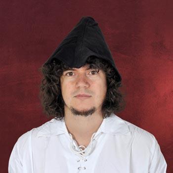 Leder Hut Robin Hood Style - schwarz