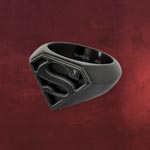 Superman Emblem Ring schwarz