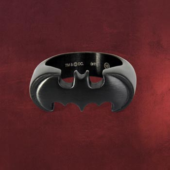 Batman Emblem Ring schwarz