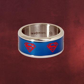 Superman Symbol Ring blau