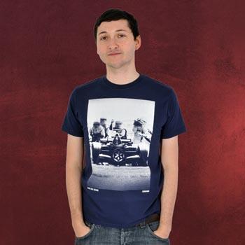 Star Wars - Darth Vader Racing T-Shirt, blau