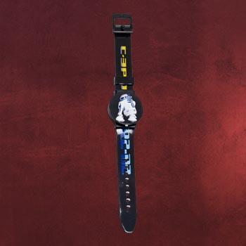 Star Wars - R2-D2 / C-3PO Wechselmotiv-Armbanduhr