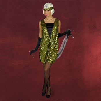 Charleston-Kleid mit Pailletten - Damenkost�m